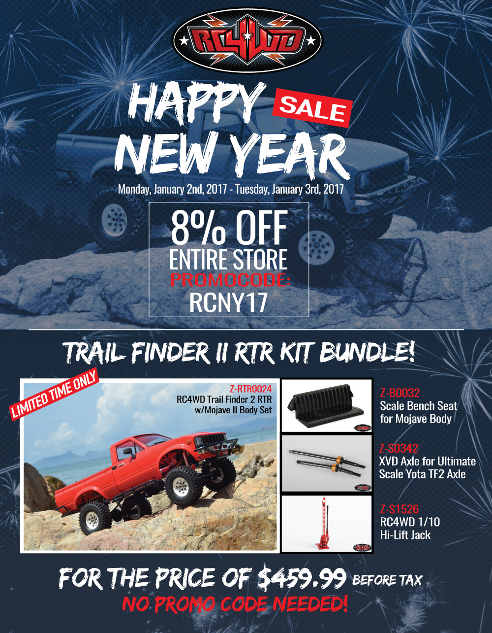 nye Limited Time: Happy New Year Sale from RC4WD!!